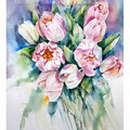 Tulpen I / Aquarell 30,5x45,5cm auf Fabriano © janinaB. 2016