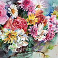 Blumensymphonie / Aquarell 30x40cm / nicht verfügbar