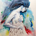 verhüllt (O5) / Watercolour 17x24cm