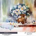 daisies V / Watercolour 30x40cm on Arches CP © janinaB. 2016