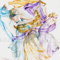 Dance in the spring (T1) / Watercolour 36x48cm