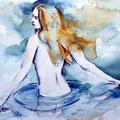 die Badende (O5) / Watercolour 17x24cm