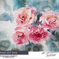 Roses XIV 2016 (O1) / Watercolour 30x20cm on Fabriano CP © janinaB. 2016