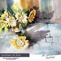 Sunflower VI 2016 / Watercolour 30x40cm on Arches CP  © janinaB. 2016