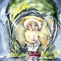 Lysetjojk (T2) / Watercolour 34x48cm