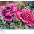 Rosen-I-2016 (15) / Aquarell 34x24cm auf Vang © janinaB. 2016