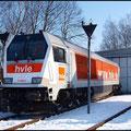 Chemnitz-Küchwald am 30.01.2011. Die Voith Maxima ist derzeit die weltweit stärkste einmotorige sechsachsige diesel-hydraulische Lokomotive.