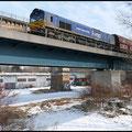 29004 am 11.03.2010 über die Chemnitz-Brücke, in wenigen Minuten ist Küchwald erreicht.