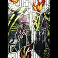 Katharinenstift Mönchengladbach, Kapellenfenster - Die Götterstadt Zion