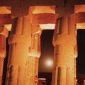 """1983-08-22 Luxor - EGY: """"Luxor-Tempel - Vollmond? """" - © reinhard uhlich"""