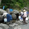 名水パークにある水汲み場