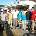 some of the Blue Waves Crew saying good by to their guests - Foto von Denise Buser