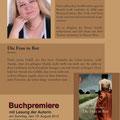 Flyer Buchpremiere - Rückseite