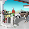 アフリカのガソリンスタンド  11/25 2014
