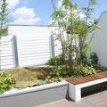 屋上テラスの植栽