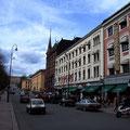 Oslos Hauptstraße mit Blick aufs Schloß