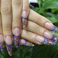 Конкурсное наращивание ногтей френч. Мастер Лариса