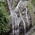 Der Wasserfall ist klein aber fein