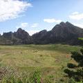 Im Vulkankrater die Felder