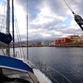Hafeneinfahrt in Chania