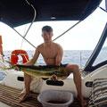 Wieder ein großer Fang, Dorade 1m lang und 4kg schwer