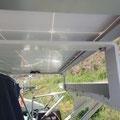 Die zusätzliche  Solaranlage ist montiert