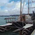 Ein polynesisches Schiff