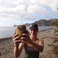 Wir ernten Früchte und finden wieder eine Kokosnuss