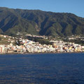 Santa Cruz de la Palma vom Meer aus