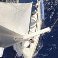 Schiff vom Mast aus
