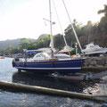SY Island in the Sun kommen ins Wasser und reisen los