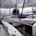 Parkposition, die Boote stehen dicht gedrängt