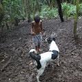 Sohn und Hund