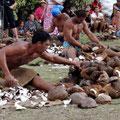 Der Kokoshaufen wird größer