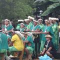 Die Band der Tahitischen Tanzgruppe