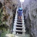 Und klettern über Leitern