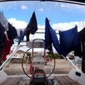 Die Wäsche muss noch trocken werden