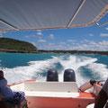 Mit dem Wassertaxi nach Sandy Island