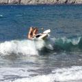 Dort kann man auf den Wellen reiten
