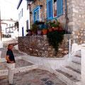 Gassen und Stufen mit alten Pflastersteinen