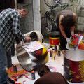 Atelier Graff 2011 - Avec Arnaud Rabier Nowart - © Association Zé Samba