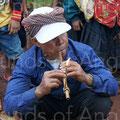Joueur d'instrument à anche libre. Tampuon. Ratanakiri.