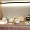 """Marie-Anne Guillemain : céramiques en porcelaine - lampe """"mille feuille """" - lampion"""