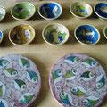 Céramiques rondes-motif poisson
