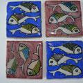 Carreaux de céramiques -motif poisson -10x10cm