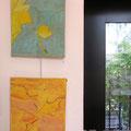 Cehel : peinture sur papier japon marouflé sur toile