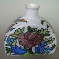 Vase blanc - motif fleur