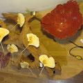 Inaïa - broche gingko en feutre -