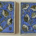 Carreaux de céramiques -motif poisson -15x15cm
