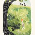 サリコンの茂み  木版  E